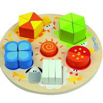 Puzzle lemn cu forme, culori, cifre jucariidezece.ro