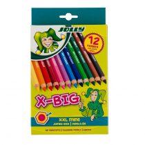 Jolly creioane colorate X-Big 12 culori extra groase pentru incepatori - jucariidezece.ro 1