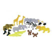 Set din lemn Animale din jungla jucariidezece.ro